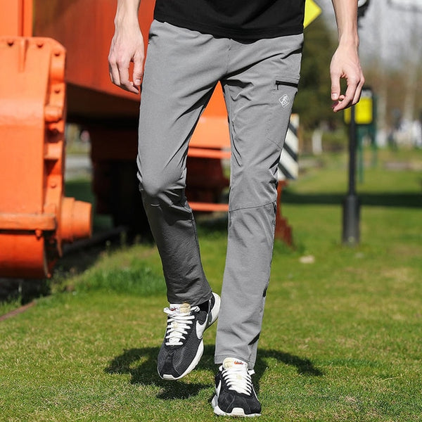 New quick drying casual pants men brand-clothing solid straight trousers male quality stretch AXX701160