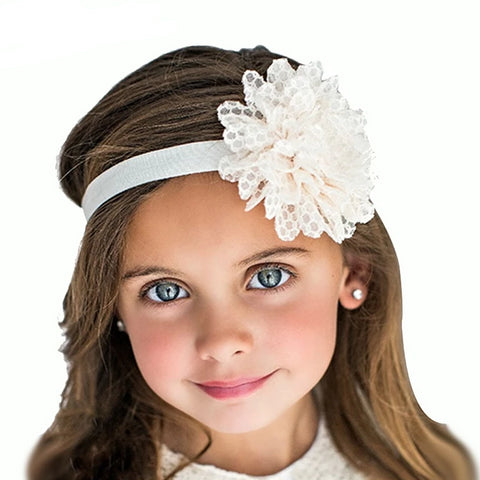 Babe Hair Bands Girls Flower Hair Elastic Bands Newborn Flower Hair Accessories Kids Cute Flower headbands Hairpins W042