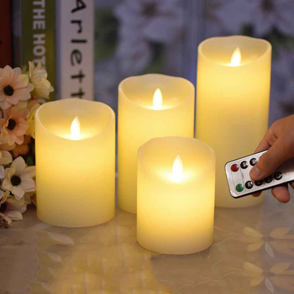 flameless remote control led wax candle, wireless timer led light