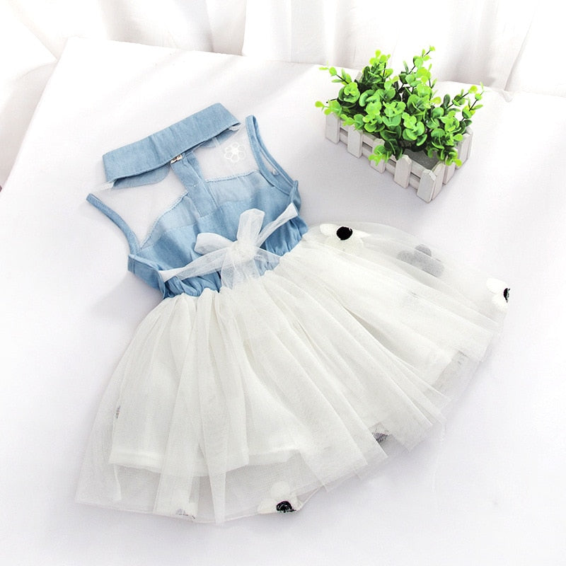 Toddler Kid Baby Girls Clothes Sleeveless Princess Party Tutu Flower Dress Tops