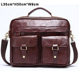 Genuine Leather Men Bag Business Briefcase Messenger Handbags Men Crossbody Bags Men's Travel Laptop Bag Shoulder Tote Bags