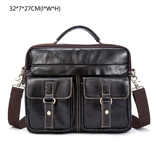 ... Genuine Leather Men Bag Business Briefcase Messenger Handbags Men  Crossbody Bags Men s Travel Laptop Bag Shoulder ... 773d6ad580dfa