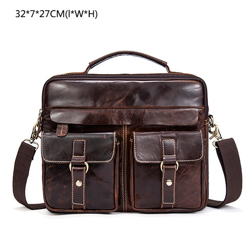 Genuine Leather Men Bag Business Briefcase Messenger Handbags Men Cros  023dccff5c689