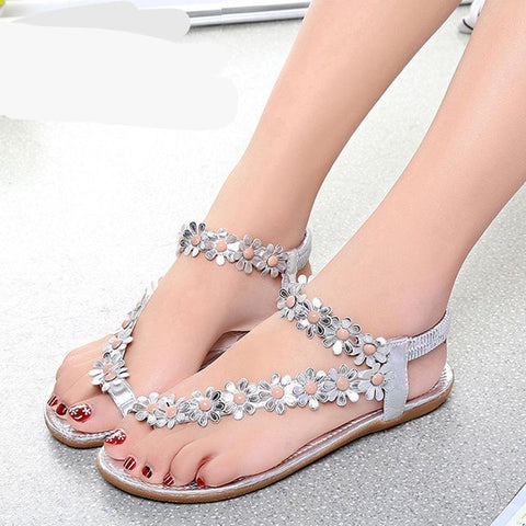 Women Sandals Summer Style Bling Bowtie Fashion Peep Toe Jelly Shoes Sandal  Flat Shoes Woman 3 16fd76e7934f