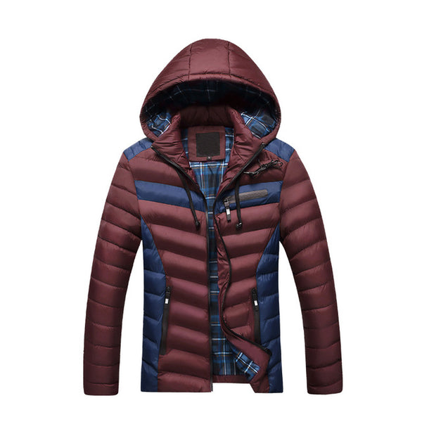 New Arrival Winter Jacket Men Warm Cotton Padded Coat Mens Casual Hooded Jackets Handsome Thicking Parka Plus size Slim Coats