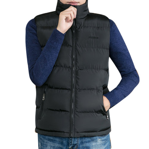 Men Winter Jackets Casual Thick Vests Men Sleeveless Hoodie Coats Male Warm Cotton-Padded Waistcoat  Warm coat