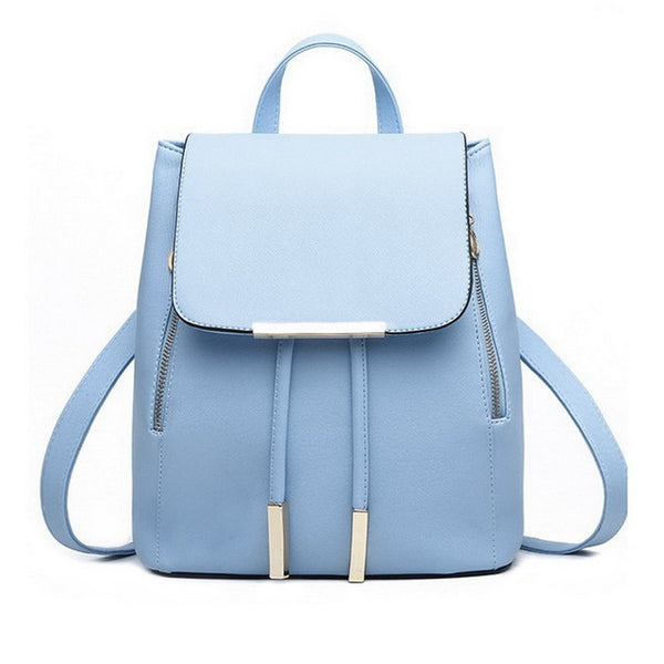 New Travel Backpack Korean Women Backpack Leisure Student Schoolbag Soft PU Leather Women Shoulder Bag Satchel Mochila