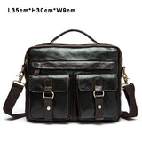 Men Bag Crossbody Bags Casual Totes Leather Handbags Messenger Laptop Bag Genuine Leather Shoulder Bags Men Briefcases
