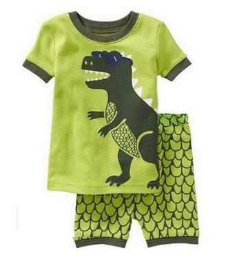 New Design Summer Kids Baby Sleepwears Suits Boys Pajamas Children Girls Cartoon short sleeve