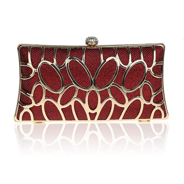 New Fashion Women Handbags Metal Patchwork Shinning Shoulder Bags Ladies Print Day Clutch Wedding Party Evening Bags WY58