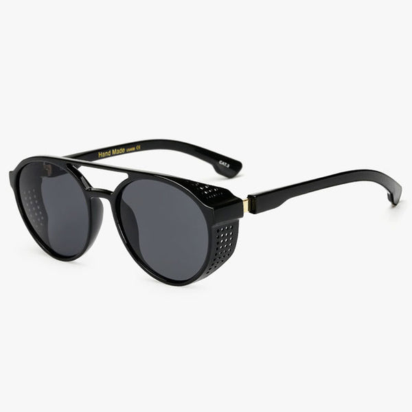 New Fashion Mens Sunglasses Vintage Steampunk Luxury Brand Designer Men Women Mirror Sun glasses UV400 Shades Eyewear