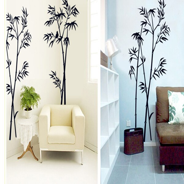 The new black bamboo sitting room bedroom home decoration wall stickers in the wall to stick on the wall