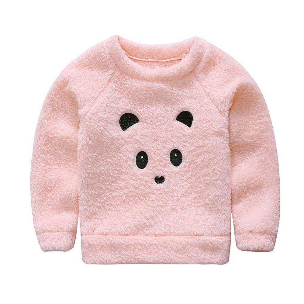 39665b80f Newborn Cute Cartoon Animal Bear Baby Sweaters Infant Warm Fleece ...