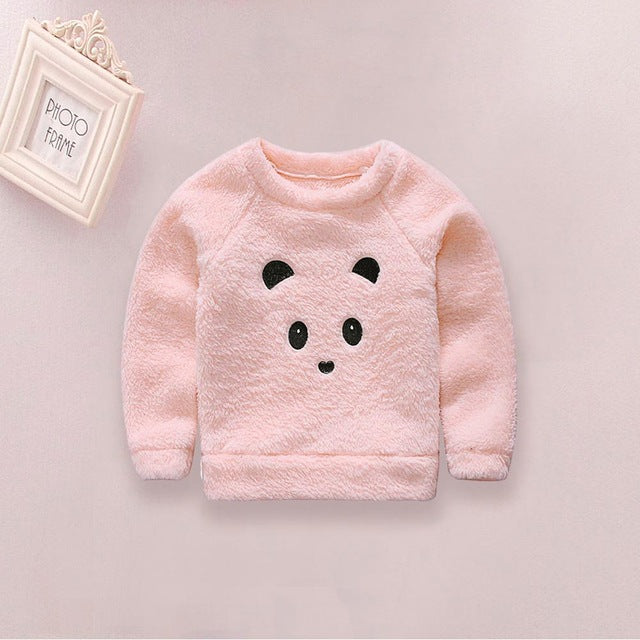 c03264e96 Newborn Cute Cartoon Animal Bear Baby Sweaters Infant Warm Fleece ...