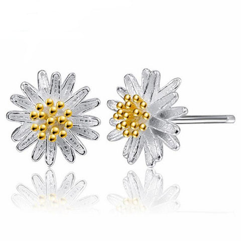 1Pair Women Daisy Flower Earrings Ear Stud Jewelry