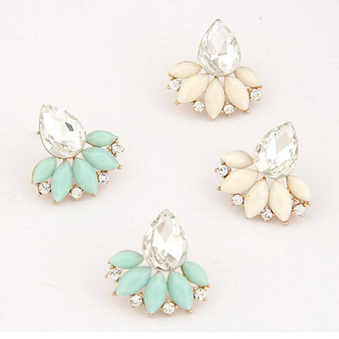 Fashion Women Girls Shining Rhinestone Crystal Drop Alloy Ear Stud Earrings for Ladies OL Jewelry Wholesale Shipping free