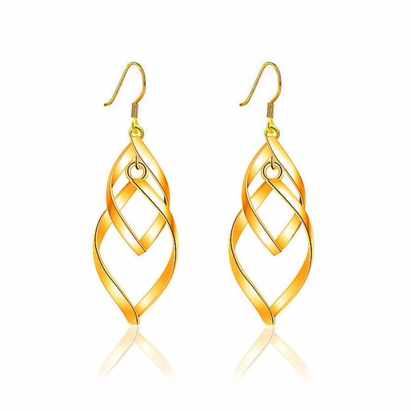 Leaves fashion earrings Elegant Fashion Silver Women Leaves Ear Earrings Silver Gold  Sliver  earrings