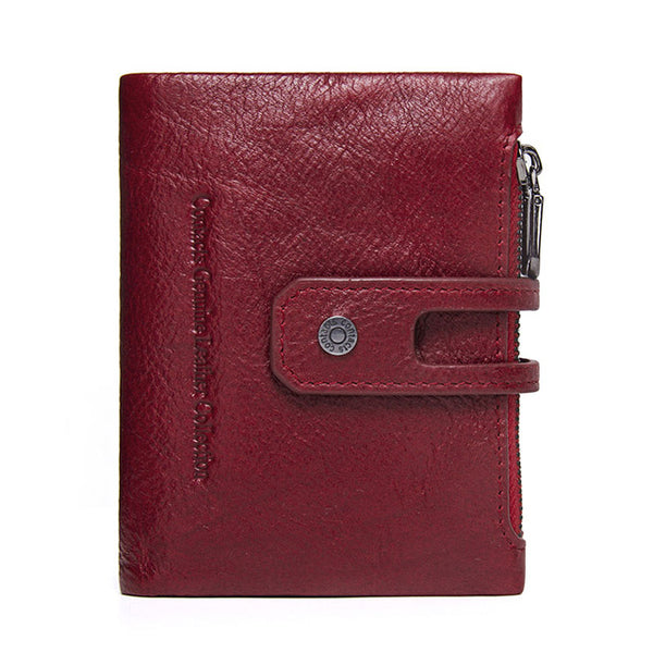 CONTACT'S 2017 Autumn New Arrival Genuine Leather Men's Wallet For Men Small Zipper Organizer Wallets Cash Carteira For Rfid