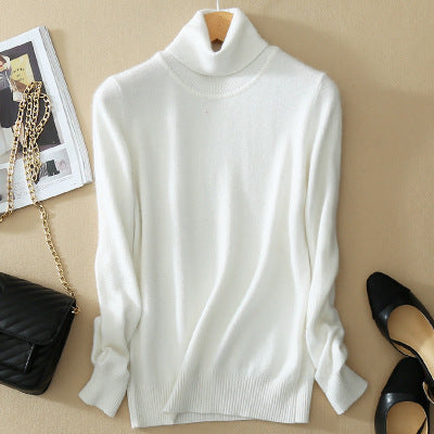 c799b29e3 ... High Quality Women Cashmere Sweater Turtleneck Pullover Winter Solid Knitted  Sweater Autumn Female Sweater Hot Sale ...