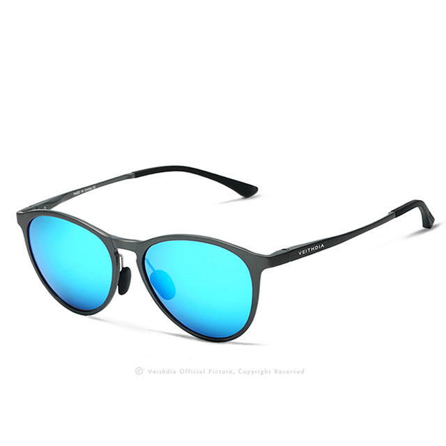 Unisex Retro Aluminum Magnesium Mirror Sunglasses Polarized Lens Vintage Eyewear Driving Sun Glasses Men/Women 6625