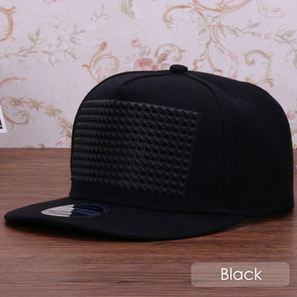 snapback cap raised soft silicon square pyramid flat baseball hip hop hat for boys and girls