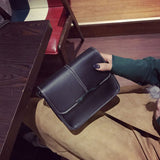 Female Crossbody Bag Small Flap Cell Phone Pocket Zipper&Hasp PU Leather Thread Shoulder Bag Girls