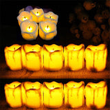 Flameless Battery Christmas LED Tea Light Flickering Tealights Candles 12pcs
