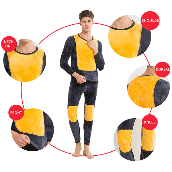 Underwear Winter Mens Warm Thermal Underwear Add wool Long Johns Thermal Underwear Sets Thick Plus Velvet Long Johns Set