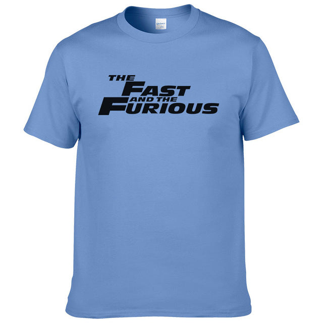 Fashion 100% Cotton T Shirt Men Fast Furious Man The fast and the furious T-Shirt Summer Casual Short Sleeve Printed Tees