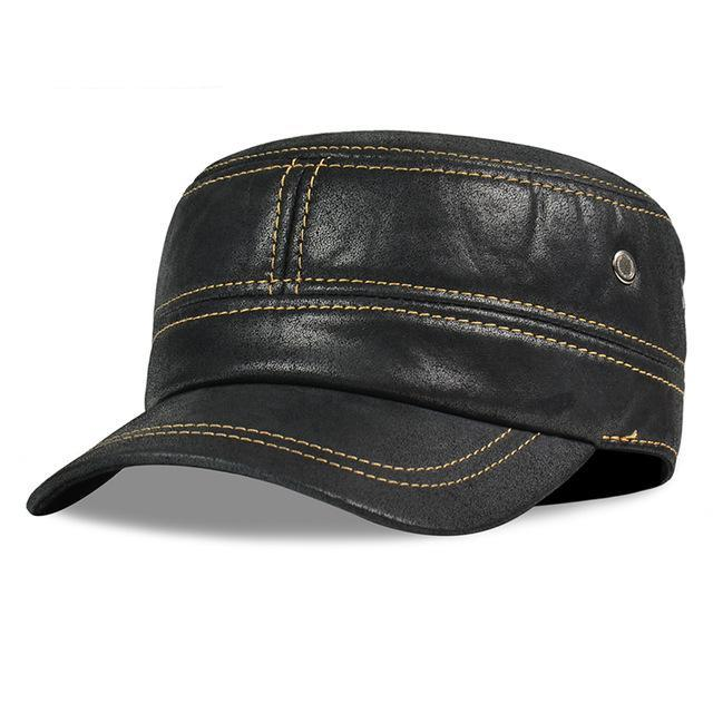 Genuine Leather baseball cap Fashion Box Hat/CAP new men brand army Nubuck leather cap hat