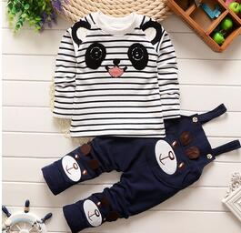 newborn Kids boys clothes set Baby boy clothes  long Sleeve t-shirt+bib pants 2pcs Set  baby clothing,toddler bebe set