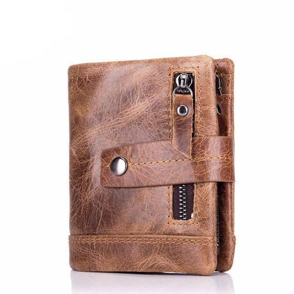BULL CAPTAIN Cow Leather Men Wallet Fashion Coin Pocket Brand Trifold Multifunction Men Purse High Quality Male Card ID Holder