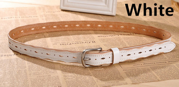 Women's Fashion Girls belts brand 100% genuine leather female straps metal pin buckle vintage for dress skirt free shipping