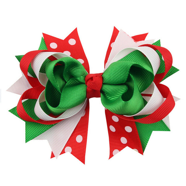 Christmas Ornaments Bowknot Hairpin Headdress