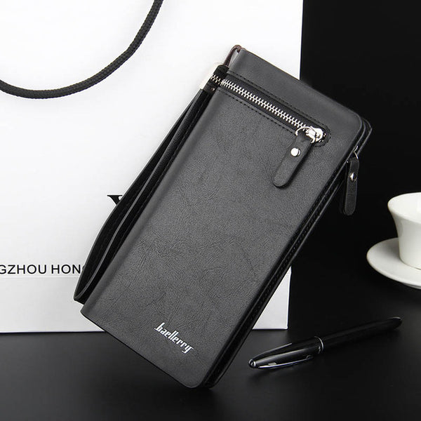 Brand Men Wallet men purse Long section Business Male Clutch Handy Designer Luxury Wallets phone bag Capacity purse coin wallet