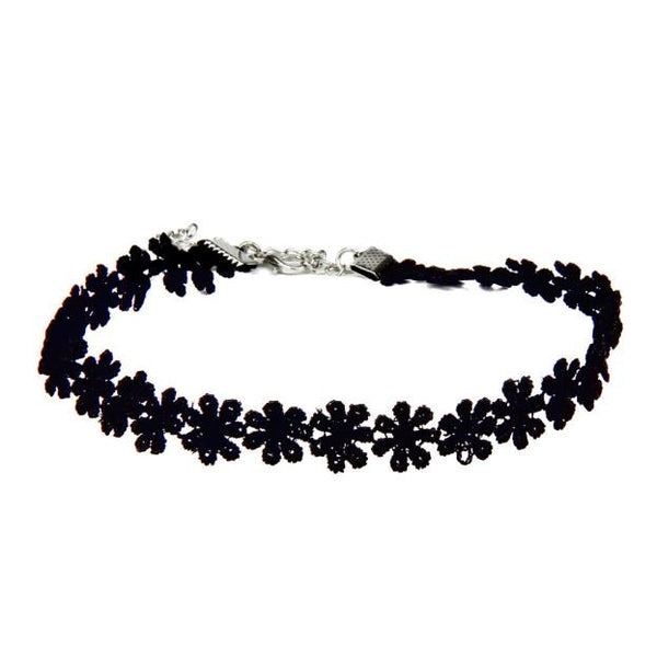 Personalized Fashion Chic Black Lace Daisy Bracelet