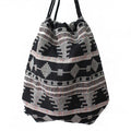 Women Fabric Backpack Female Gypsy Bohemian Boho Chic Aztec Ibiza Tribal Ethnic Ibiza Brown Drawstring Rucksack Bags