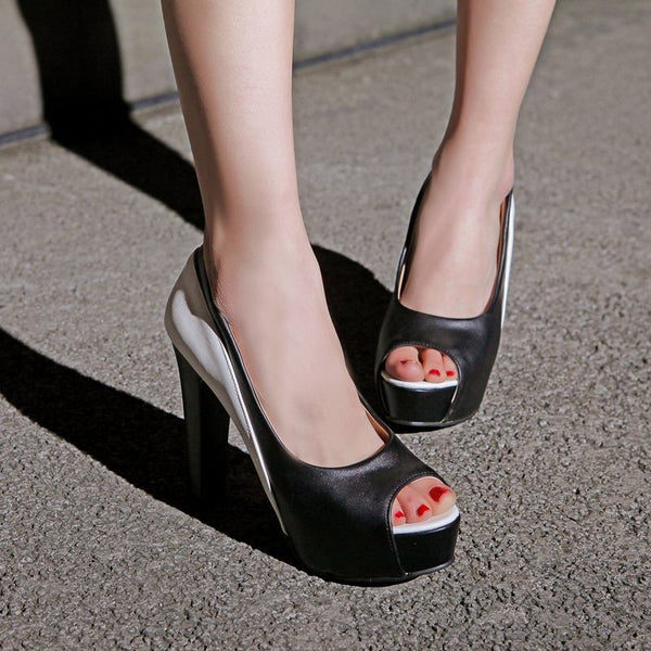 women pumps peep toe platform shoes 10 cm high heels party wedding shoes woman sexy lady shoes