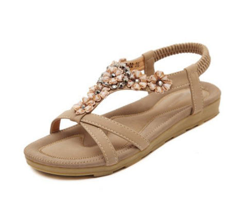 Bohemia Fashion women sandals New women Shoes Skid Flower Sandalia Feminina elegant Summer sandals Shoes DT399