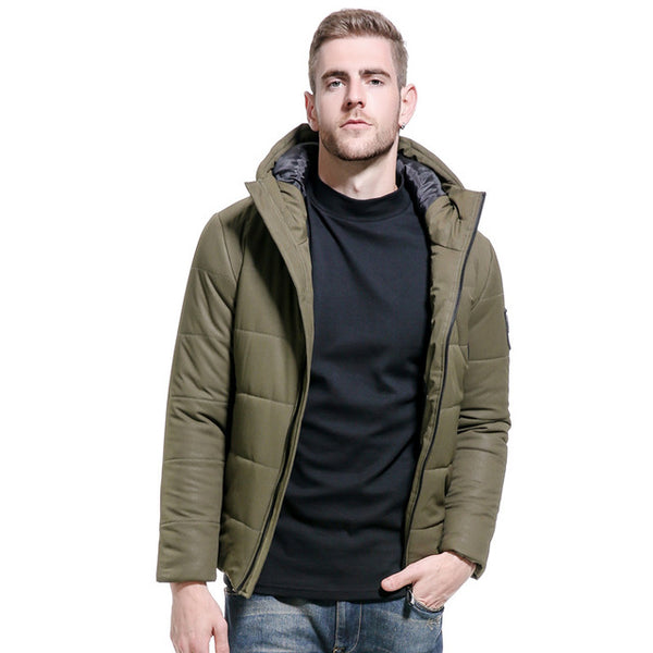 Winter Jacket Men Thickening Casual Men Short Coat For Male Stand Collar Parka Threaded Cuffs Windproof Warm Snow Coat