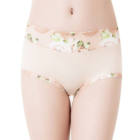 Women Underwear Panties Ladies Seamless y Briefs Floral Print Calcinhas Intimates Underpants Ropa