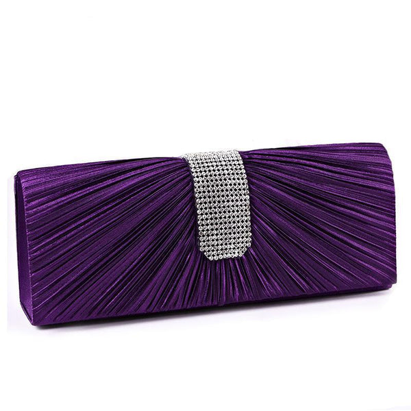 Luxy moon Women Satin Rhinestone Evening Clutch Bag Ladies Day Clutches Purses Chain Handbags Bridal Wedding Party Bolsas XA311H