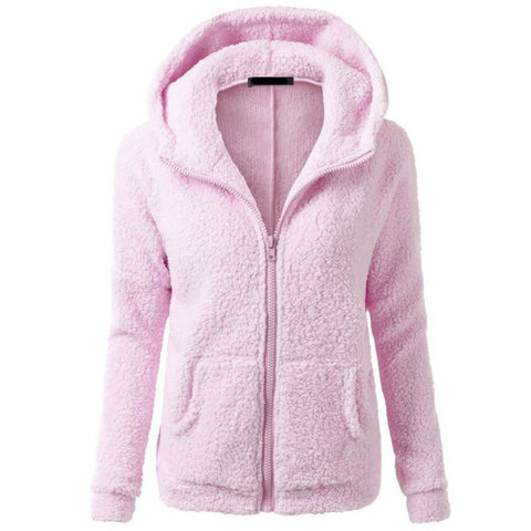 New Arrival Women Autumn/Winter Fleece Jackets Fashion Casual Hooded Sweaters Warm Soft Coats Sweatshirts S4