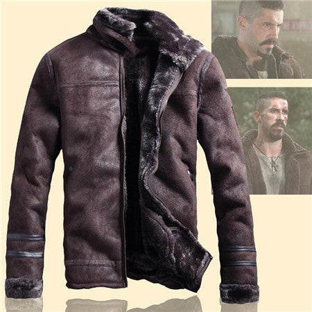 b661d92d1ba Winter Mens Fur Faux Leather Jacket Casual Fashion Streetwear Mens Faux Fur  Leather Jackets Overcoat Velvet C235