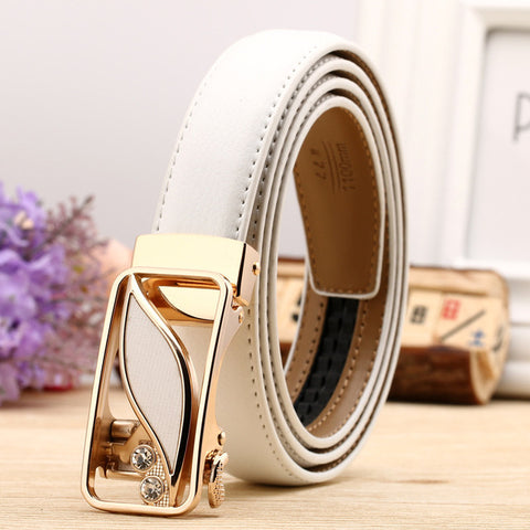 Women Belt Luxury Famous Designer Brand High Quality Genuine Leather Strap Automatic Reversible Buckle Belts for Dress Ceinture