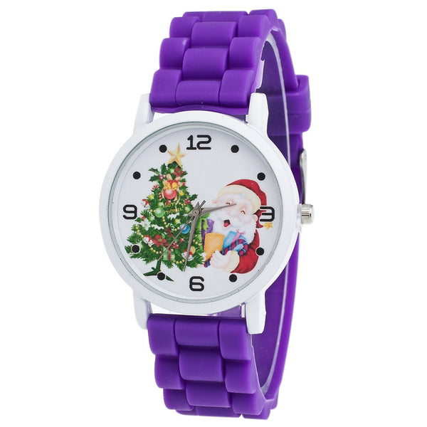 Christmas Gifts Childrenlor Fashion Watch Silicone Strap Wrist Watch