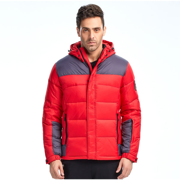 Men Fashion Down Jacket Winter Down Coat Parka Duck Down  Hooded Jacket Brand Free Shipping