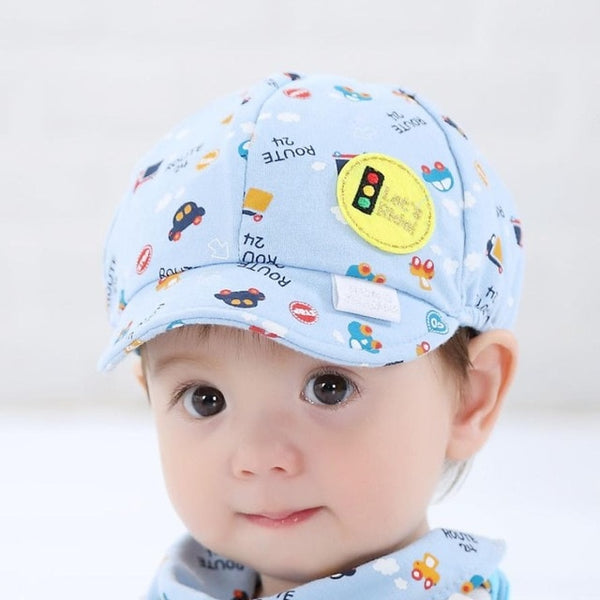 Summer Cotton Comfortable Hats Cute Casual Car Cartoon Soft Eaves Baseball Cap Babywear Boy Beret Baby Girls Sun Hat AP204