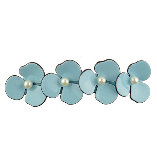 Women Hair Accessories High Quality Sweet Pearls Acrylic Flower Hair Barrette Vintage Hair Clip For Girls