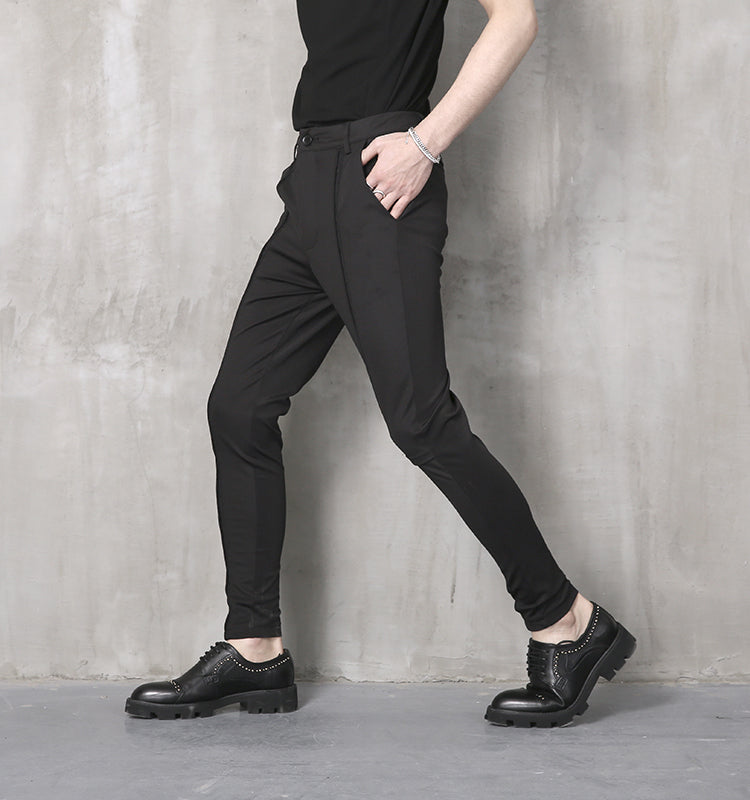 Male summer casual pants slim skinny pants personality all-match pants trousers